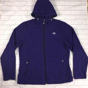 New Balance Fleece Jacket Womens Sz M Blue Fleece